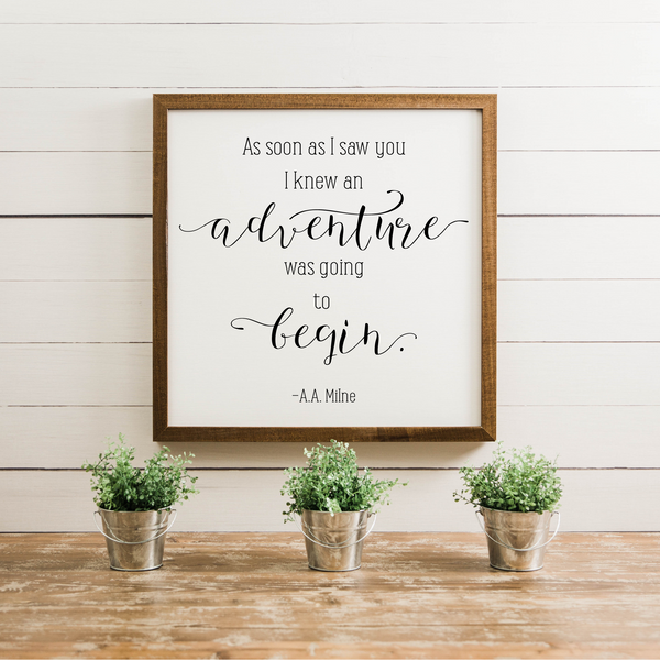 Wood Framed Signboard - Adventure
