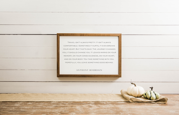 Wood Framed Signboard - Anthony Bourdain - Multiple Sizes