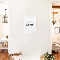 Smallwoods Make Yourself at Home Wooden Sign Medium White