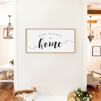 Smallwoods Make Yourself at Home Wooden Sign XL Almond