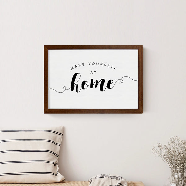 Smallwoods Make Yourself at Home Wood Wall Sign Medium Stained
