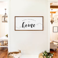 Smallwoods Make Yourself at Home Wooden Sign XL Stain