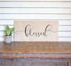 Natural Wood Sign - Blessed - XL - 45x23