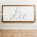 Smallwoods Be Still Wall Art Decor Sign Horizontal
