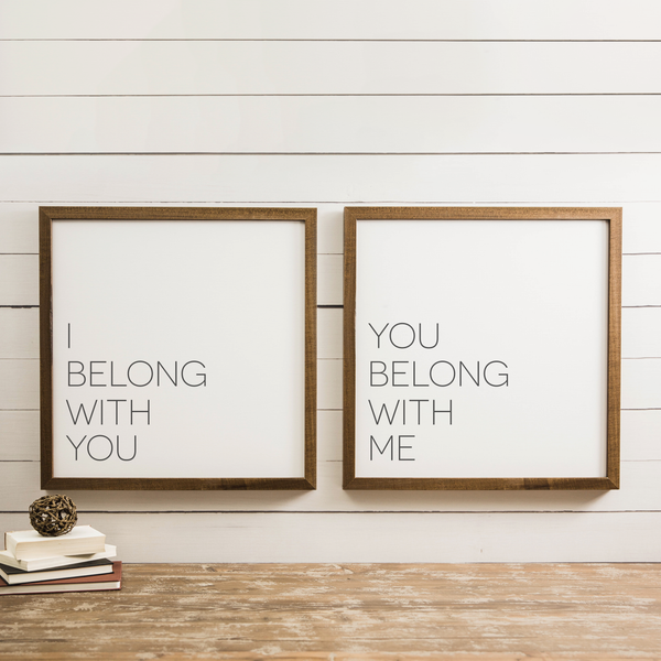 Wood Framed Signboard - Belong - SQ [DUO]