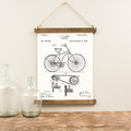 Canvas Hanging Print - Bicycle Patent [CLOSEOUT]