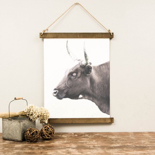 Canvas Hanging Print - Bull