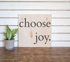 Natural Wood Sign - Choose Joy - Square - 26x26