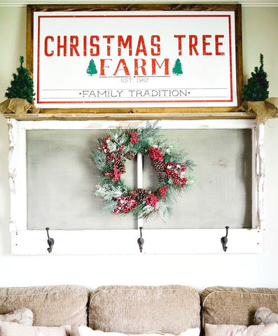 Smallwoods - WOOD FRAMED SIGNS - Wood Framed Signboard - Christmas Tree Farm  - 1