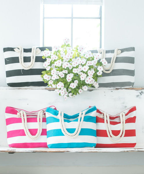 Smallwoods - BAGS / HOME DECOR - Stripe Tote Bag (Multiple Colors)  - 1