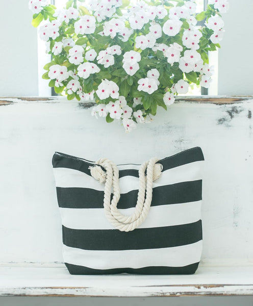 Smallwoods - BAGS / HOME DECOR - Stripe Tote Bag (Multiple Colors)  - 6