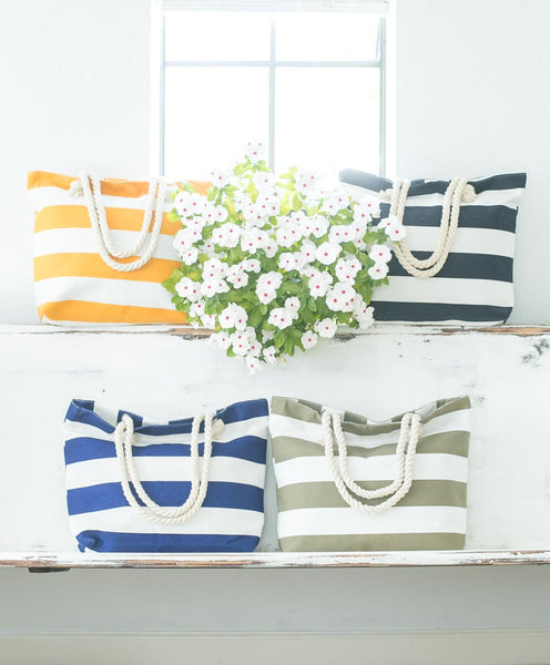 Smallwoods - BAGS / HOME DECOR - Stripe Tote Bag (Multiple Colors)  - 3