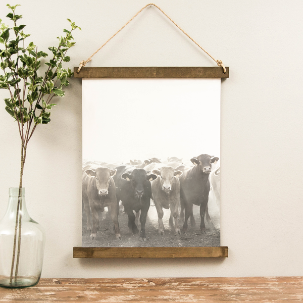 Canvas Hanging Print - Cattle Run