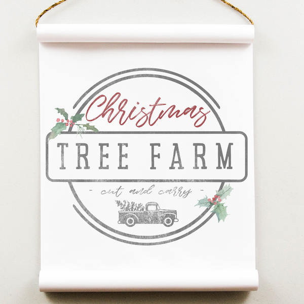 Wall Scroll - Christmas Tree Farm