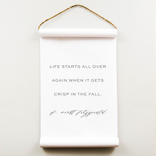 Wall Scroll - Crisp in the Fall - Multiple Sizes