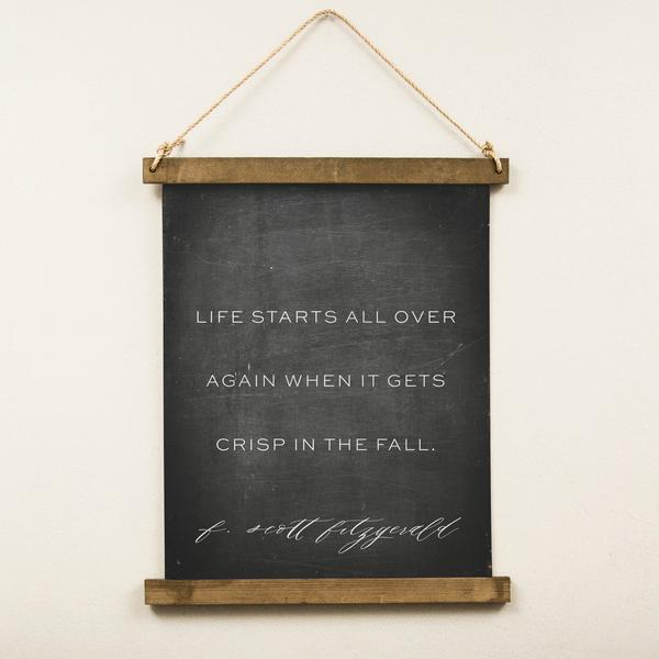 Canvas Hanging Print - Crisp in the Fall (Multiple Background Options)
