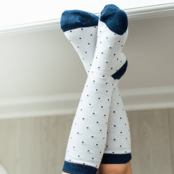 SweetHoney - Boot Socks - Navy