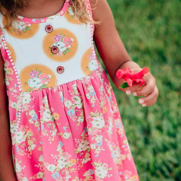 SweetHoney - Kate Dress - Cherry Donut