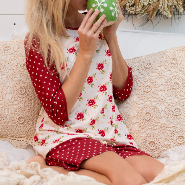 SweetHoney - Women's Shortie PJs - Barn