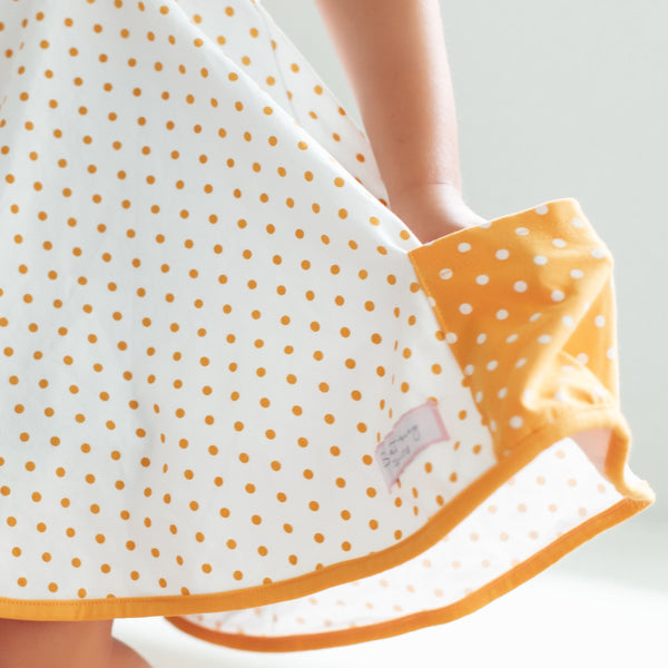 SweetHoney - Game Day Flair Dress - Big Orange Dotty