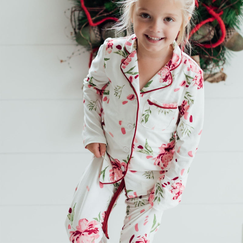 SweetHoney - Girls Cozy PJs - Garnet