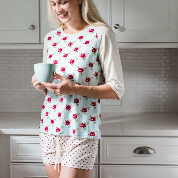 SweetHoney - Women's Shortie PJs - Sweet Flower