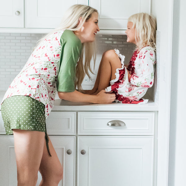 SweetHoney - Women's Shortie PJs - Fresh Air