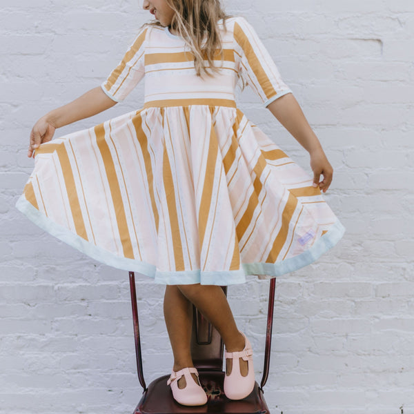 SweetHoney - Flair Dress - Candy Stripe