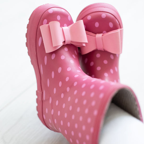 SweetHoney - Cheery Rain Boots - Pink Dotty