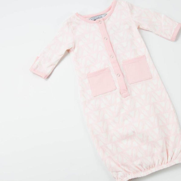 Everyday Essentials - Infant Gown - Pink Tulips FINAL SALE