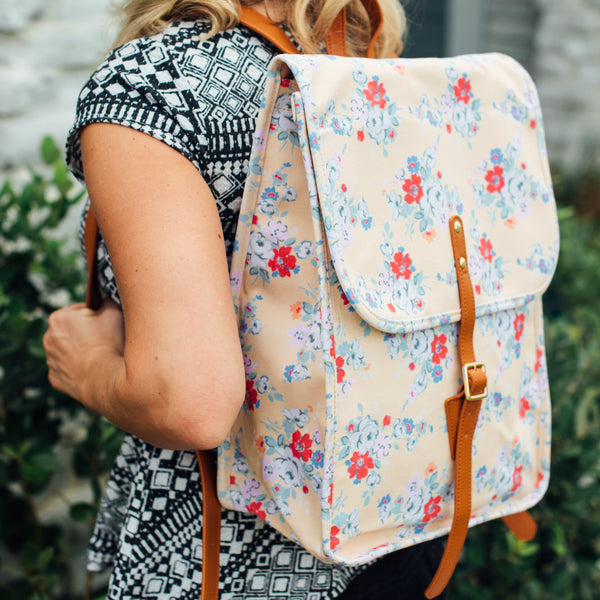 SweetHoney - Elliot Backpack - Yellow Floral