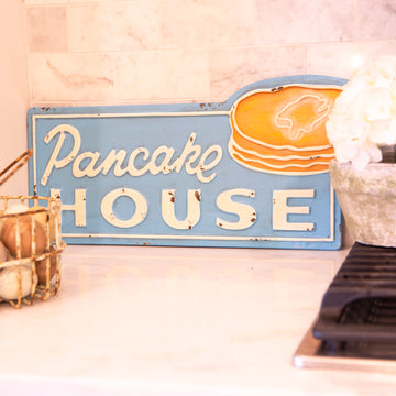 Metal Pancake House Sign