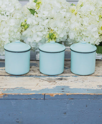 Enamelware Canister