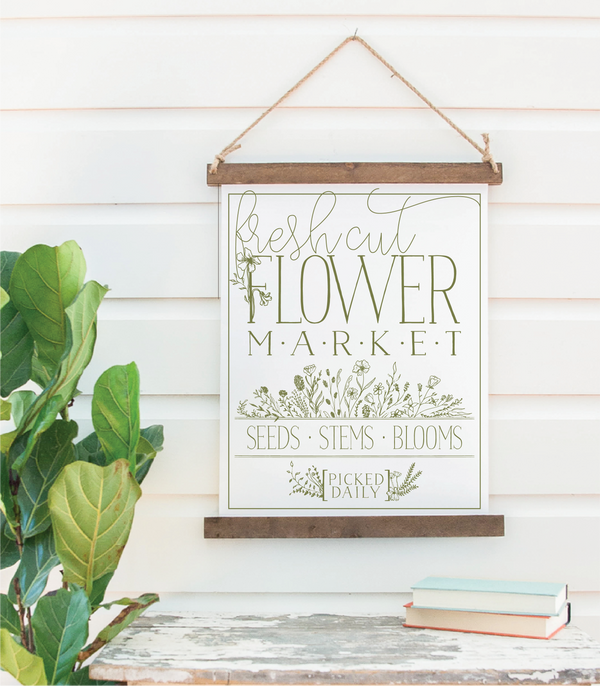 Canvas Hanging Print - Flower Market