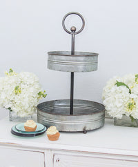 Smallwoods - Resale - Farmhouse Two Tier Metal Stand  - 2