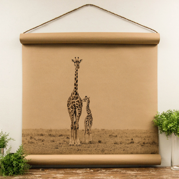 Wall Scroll - Giraffe - Oversized