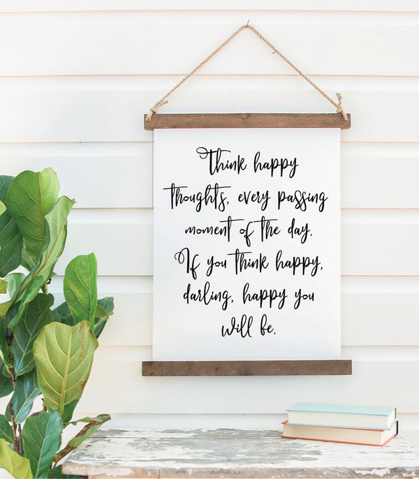 Canvas Hanging Print - Happy Thoughts, Darling [CLOSEOUT]