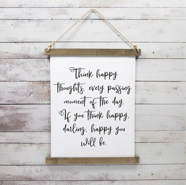 Canvas Hanging Print - Happy Thoughts, Darling