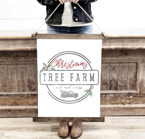 Canvas Hanging Print - Christmas Tree Farm