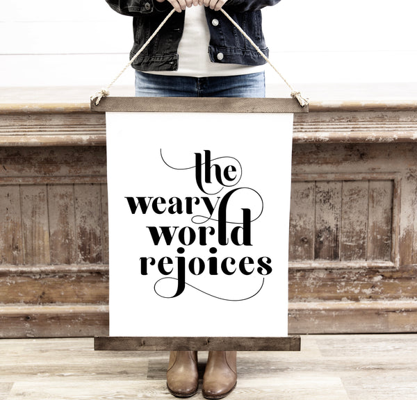 Canvas Hanging Print - Weary World Rejoices [HOLIDAY18]