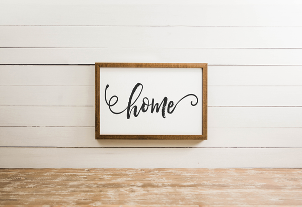 Wood Framed Signboard - Home [Closeout] - Multiple Sizes