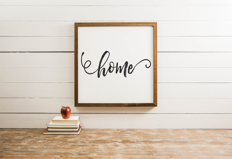 Wood Framed Signboard - Home - Multiple Sizes