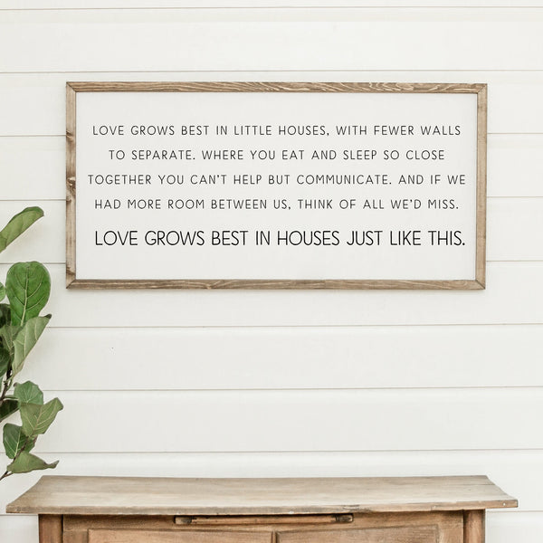 Wood Framed Signboard - House Just Like This - Multiple Sizes