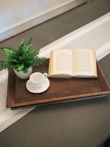 Old Wood Tea/Coffee Service Tray