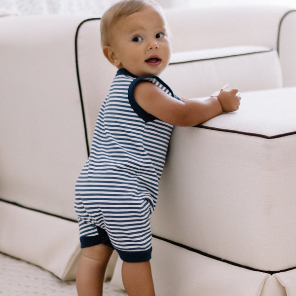 Everyday Essentials - Short-all - Tiny Navy Stripe FINAL SALE