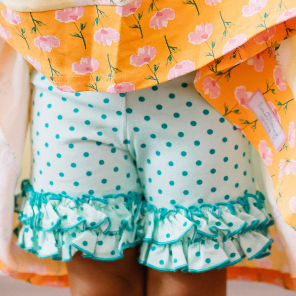 SweetHoney - Shorties - Teal Dotty