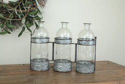 3 Bottle Metal Frame Tote