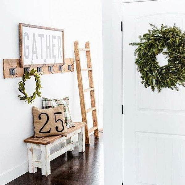 Wood Framed Signboard - GATHER [Block Font] - XL