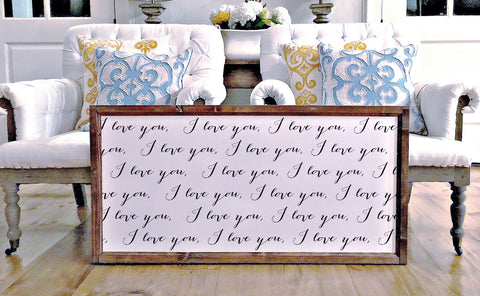 Smallwoods - WOOD FRAMED SIGNS - Wood Framed Signboard - I love you infinity