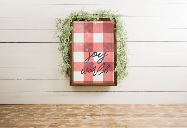 Wood Framed Signboard - Joy to the World - Multiple Sizes [HOLIDAY18]